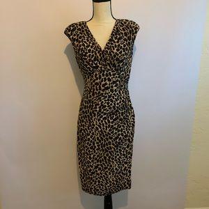 Ralph Lauren Cheetah Print Cocktail Dress